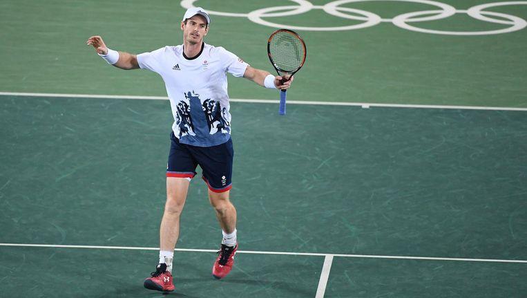 Murray na het laatste punt. Beeld photo_news