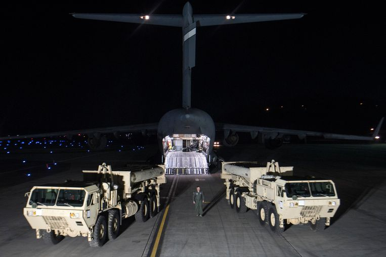 Een nieuw raketschild moet Zuid-Korea en Japan beschermen tegen Noord-Koreaanse aanvallen. Beeld AP