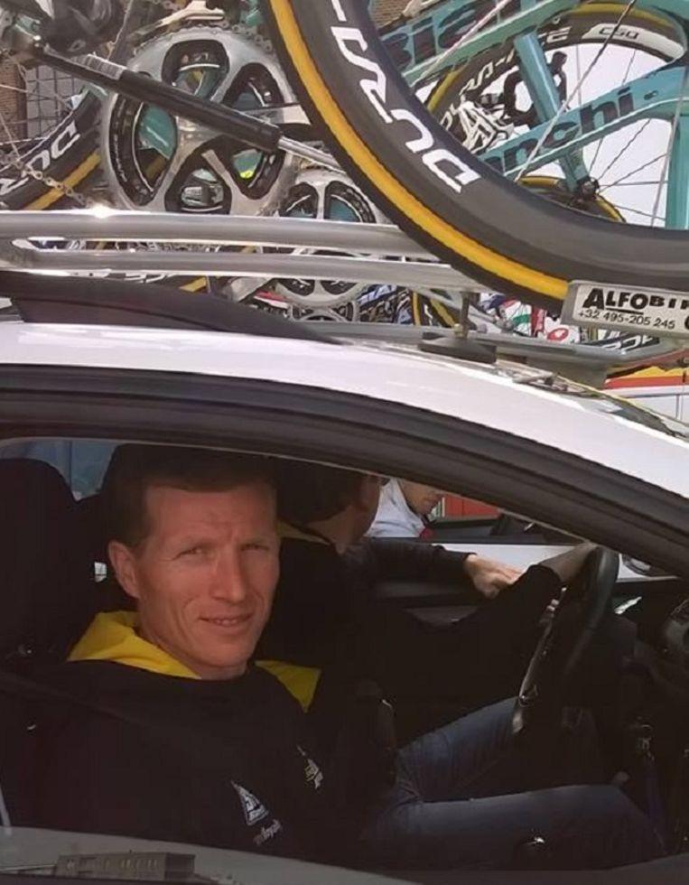 Ken Vanmarcke als ploegleider in de Scheldeprijs.