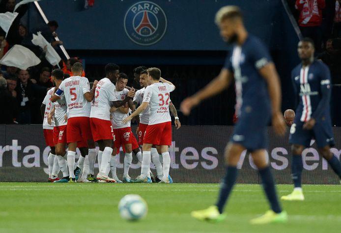 Hassane Kamara zorgde voor het enige doelpunt in Parijs tegen PSG.