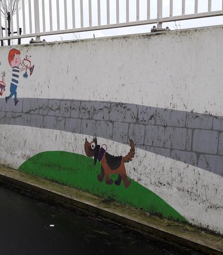 Fiepstunnel in 'De stad van Fiep Westendorp' kan wel een poetsbeurtje gebruiken