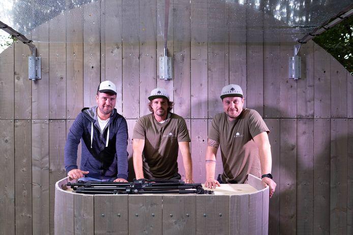 Jelle Teugels, Tim Peeters en Hans Forceville van Woodfest Rumst.