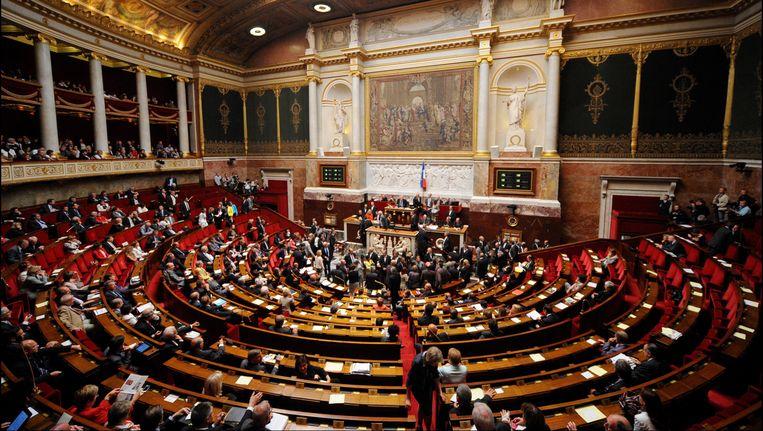 De Franse Nationale Vergadering in Parijs