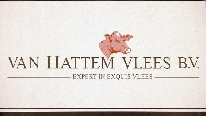 Het logo van Van Hattem Vlees .