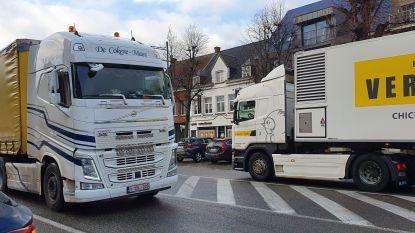 Eerste controles vrachtwagenluwezone: 4 op 10 rijdt onnodig door dorpskernen