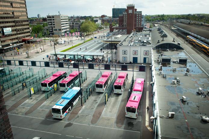 Het Stationsplein in Nijmegen.