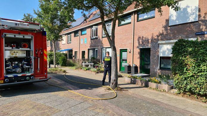De situatie meteen na de brand in Doesburg.