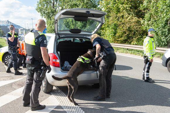 Op zondag 5 juli werd ook al een wagen klemgereden door de politie in het Antwerpse.