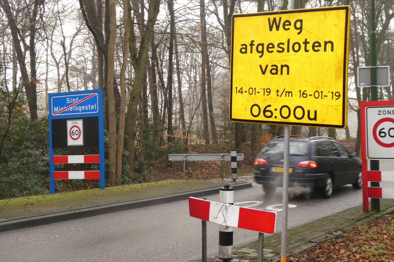 De Esscheweg gaat drie dagen dicht voor onderhoud aan gasleiding.