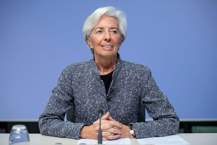 Christine Lagarde, voorzitter van de Europese Centrale Bank.  Beeld Getty Images