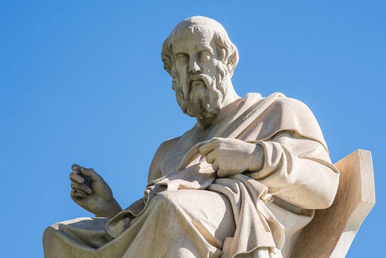Een beeld van Plato in Athene. Beeld Thinkstock