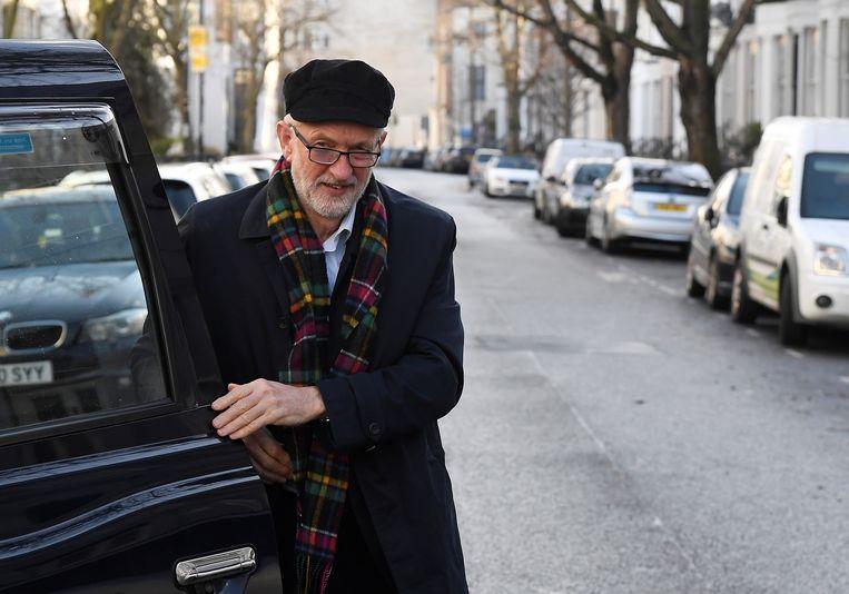 Jeremy Corbyn in Londen.  Beeld null