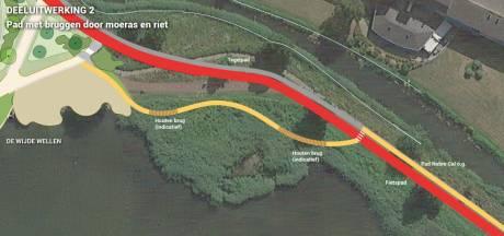 Wandelen zonder bellende fietsers op het Zeepad in Harderwijk