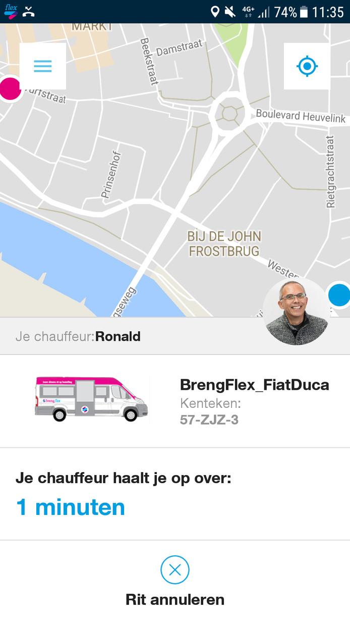 In dit geval chauffeur Roland en hij komt er zo aan.