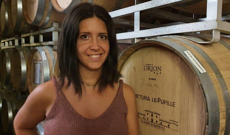 Wijnmaakster Clara Gentili  van Fattoria Le Pupille bij Grosseto.  Beeld Pauline Valkenet