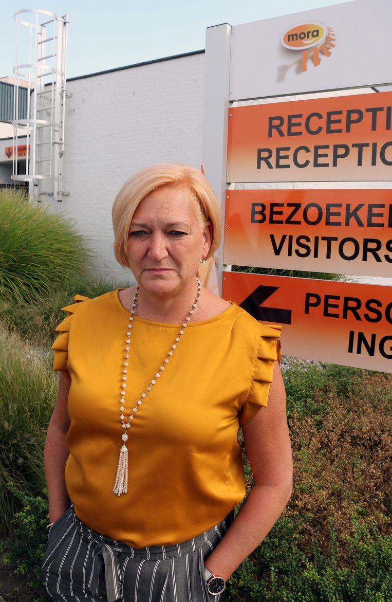 ABVV-afgevaardigde Karine Van Uytven.