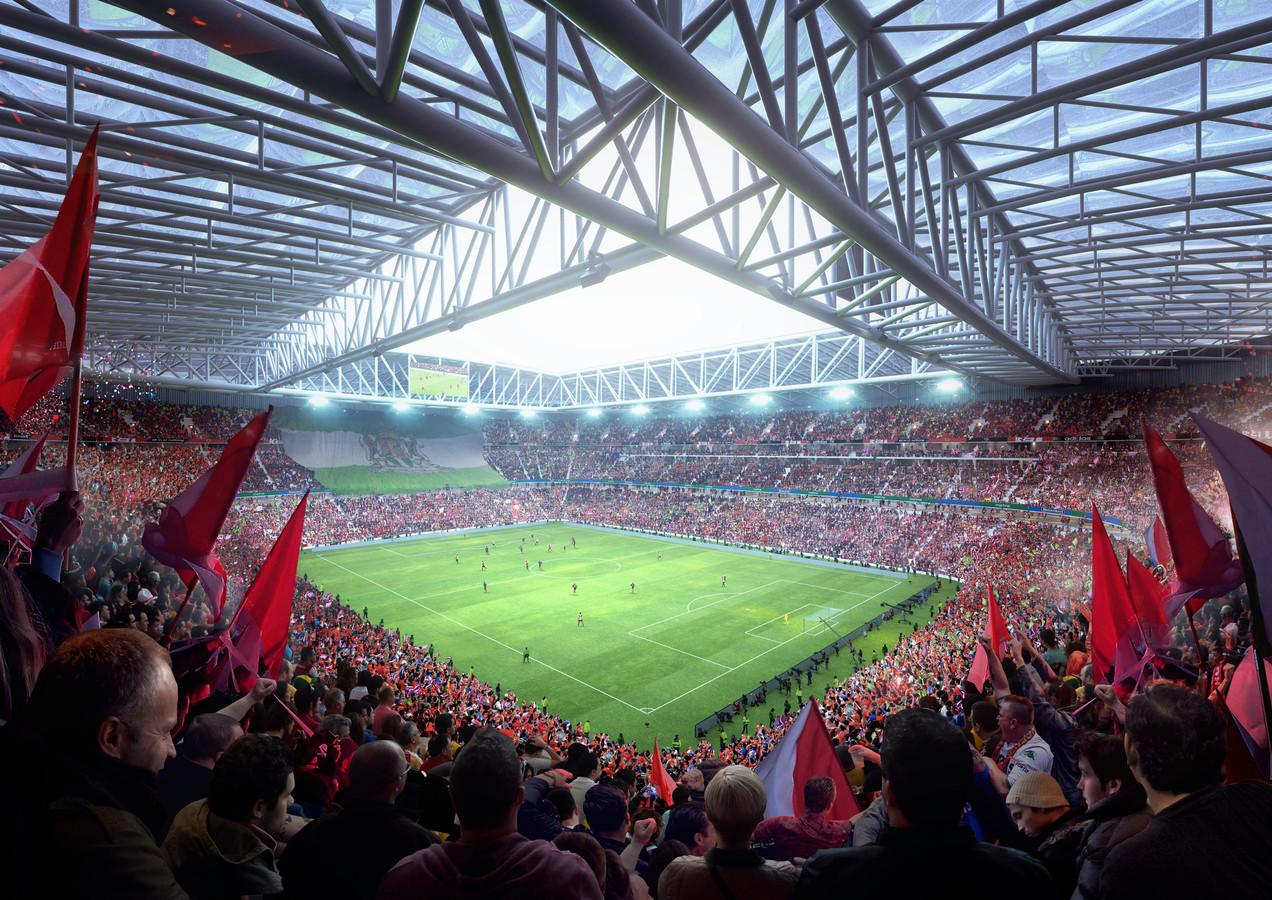 Impressie van het nieuwe stadion Feyenoord