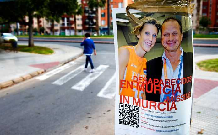Murcia hing vol met de posters over de vermissing van Ingrid Visser en Lodewijk Severein.