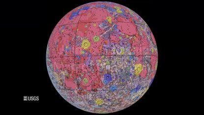 NASA geeft gedetailleerde kaart vrij van de maan
