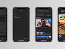Facebook rolt nu ook 'dark mode' uit voor iPhones en iPad