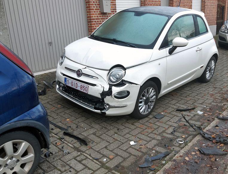 De auto van Larysa zal nog wel hersteld kunnen worden.