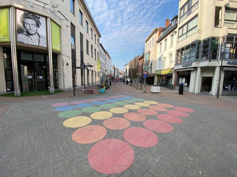 Het lege stadscentrum van Hasselt tijdens de coronacrisis.