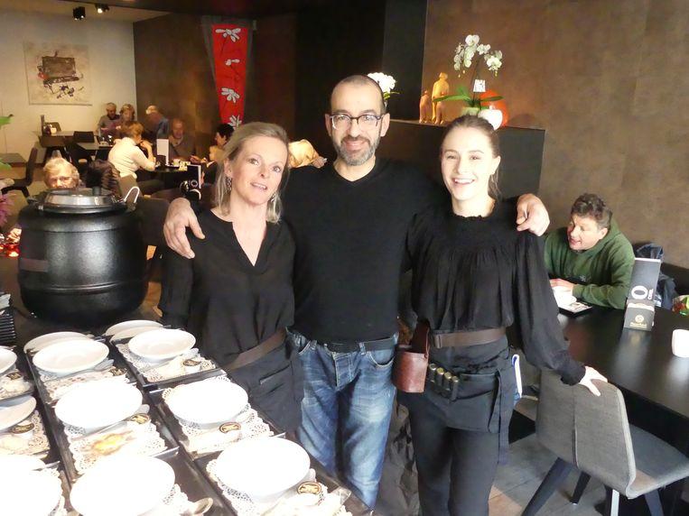 Team Odiel met Nancy Bouckaert, Ronny Zahnoun en Febe Goossens.
