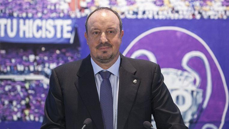 Rafael Benitez, de nieuwe coach van Real Madrid.