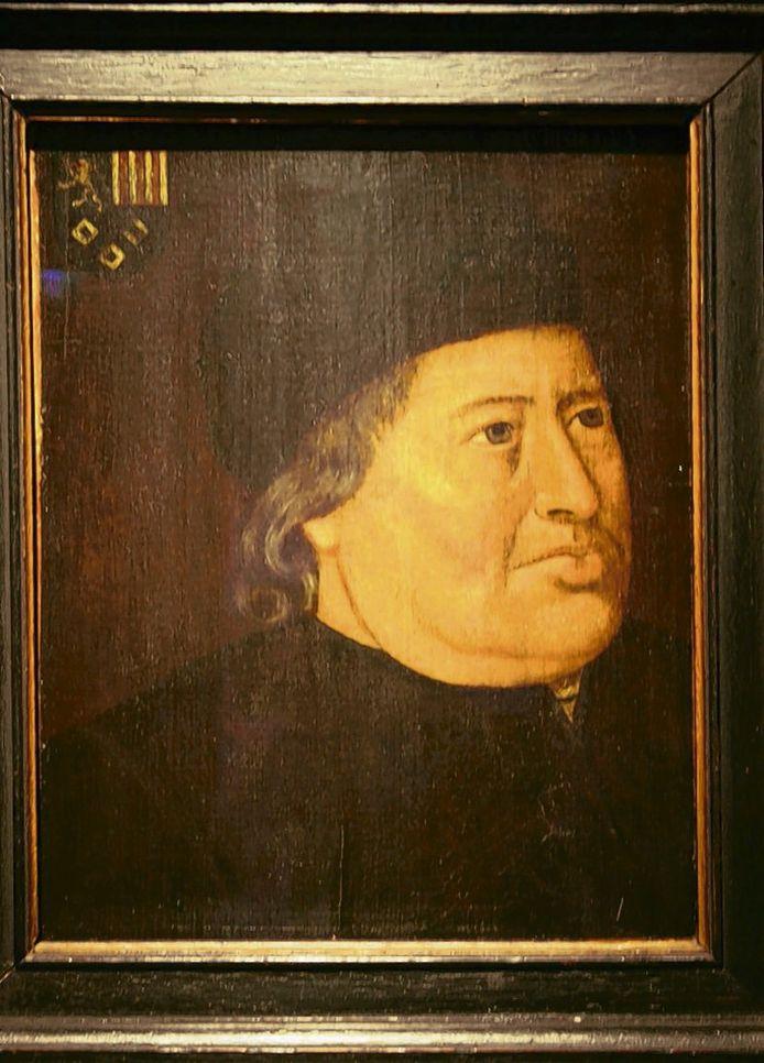 Jan II van Glymes, bijgenaamd Jan metten Lippen vanwege zijn rijke kinderschaar. illustratie Markiezenhof Historisch Centrum