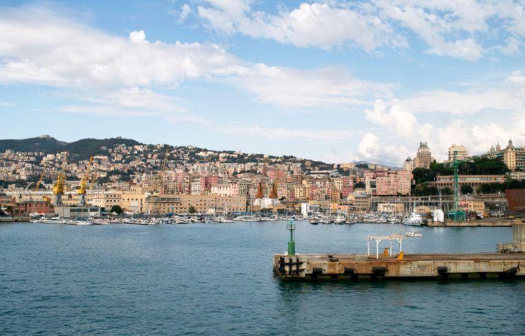 De haven van Genua.