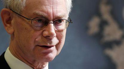 """Herman Van Rompuy ontkent rol als brexitbemiddelaar: """"Ik houd me daar niet meer mee bezig"""""""