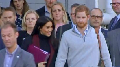 Harry en Meghan onder grote belangstelling aangekomen in Australië