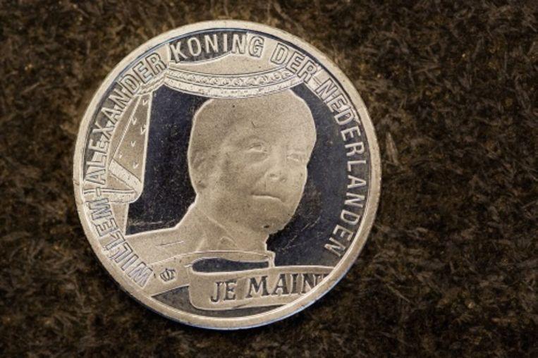 null Beeld Het Koningstientje, de eerste munt waarop Willem-Alexander als koning is afgebeeld. ANP