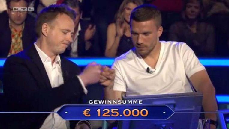 Podolski en de Duitse teamchef Stromberg maakten een sterke indruk en stopten op het juiste moment.