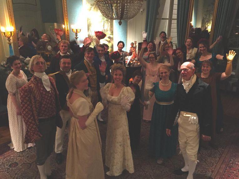 Terug in de tijd met de Jane Austen Regency Dancers. Beeld Roland Spek