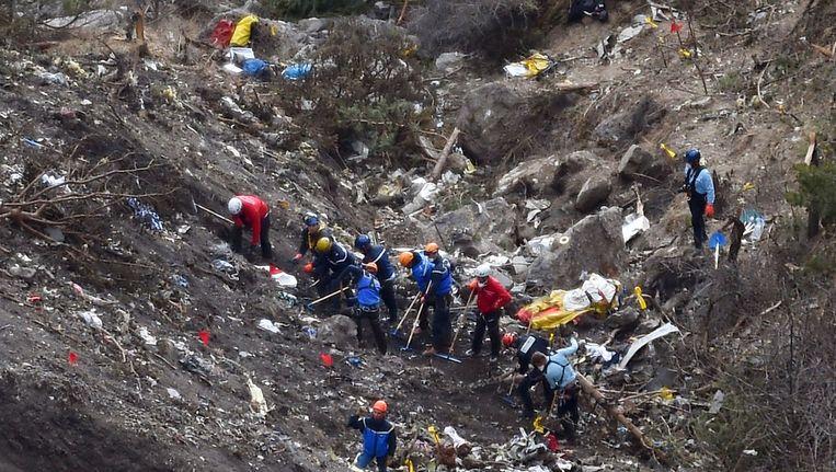 Het vliegtuig van Germanwings stortte in de Alpen neer.