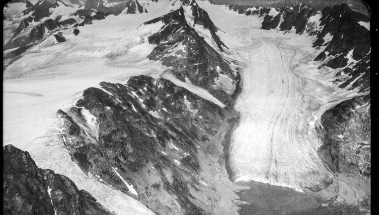 De gletsjer Skjoldungen op Groenland in 1932 Beeld Geodatastyrelsen