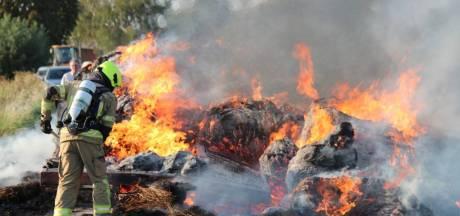 Aanhangwagen met vlas verwoest bij Zaamslag