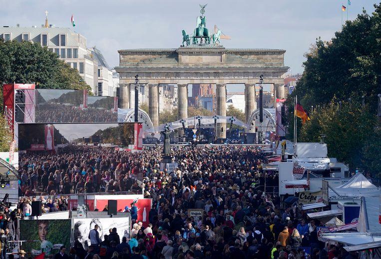 Alles wordt in gereedheid gebracht voor de Dag van de Duitse eenheid, een nationale feestdag in Duitsland.