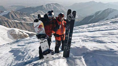 Seppe Smits snowboardt op 6.500 meter hoogte