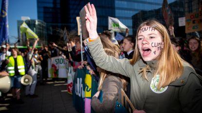 Ook in vakantie betogen klimaatspijbelaars: 1.100 deelnemers in Brussel