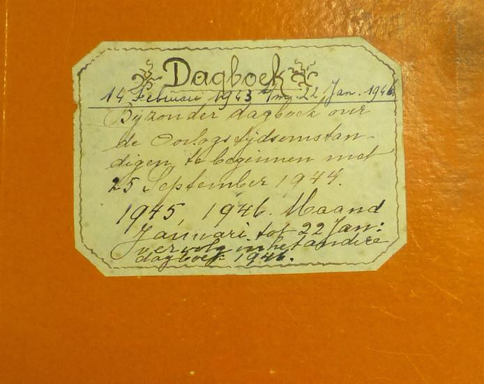 Omslag van het 'oorlogsdagboek' van de Redemptoristinnen uit Sambeek.