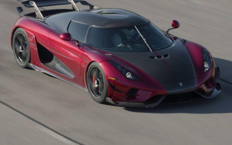 De Koenigsegg Regera gaat in amper 31.49 seconden van 0 naar 400 km/u en terug.