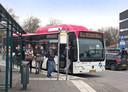 Busstation Scharenburg.