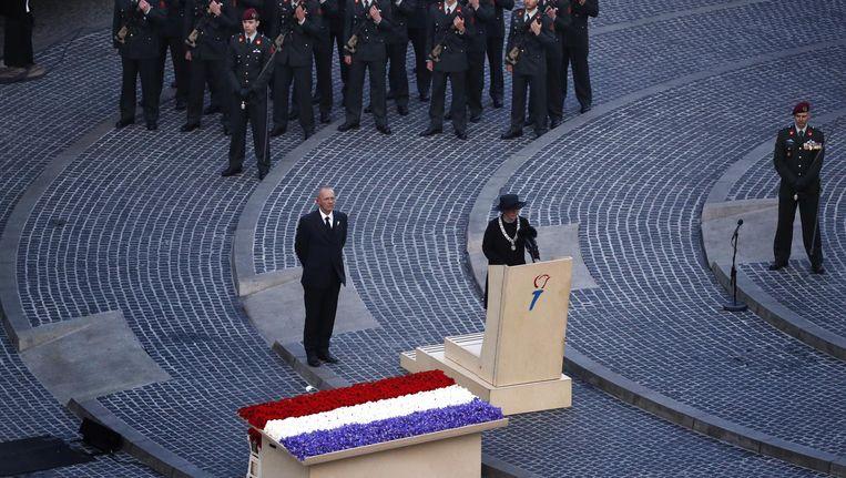 Halsema: 'Aan onze vrijheid gingen pijn en groot verdriet vooraf.' Beeld anp