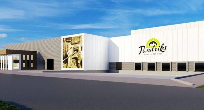 De nieuwe bakkerijhal van Pandriks Bake Off, waarmee de productie verdubbelt naar negen miljoen broden.