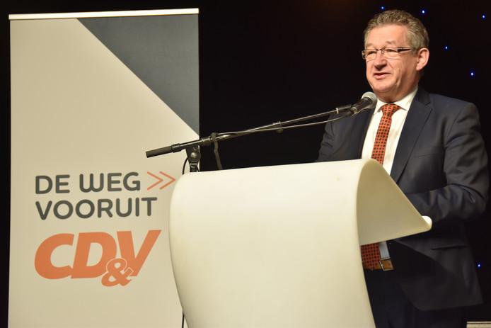 Brugs burgemeester Dirk De fauw, onlangs nog op de CD&V-nieuwjaarsreceptie.