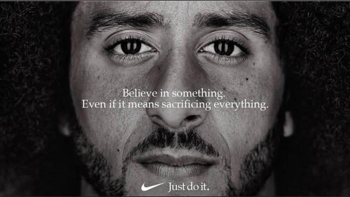 Nike reclame met Kapaernick