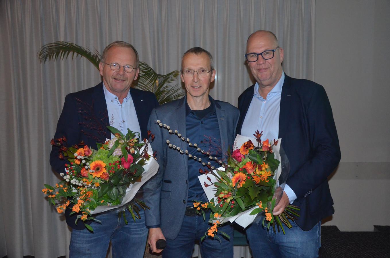 CDA Westland heeft een nieuwe voorzitter. v.l.n.r. Adriaan Alblas, Frits Zwinkels, Theo Spanbroek
