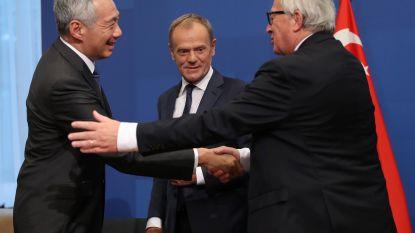 Vrijhandelsakkoord met Singapore bezegelt Europees-Aziatische top